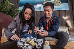 Couple Eating Oysters