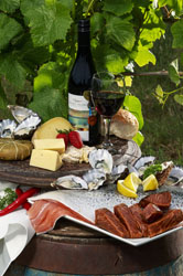 Enjoy delicious local produce for lunch with Bruny Island Traveller lunch