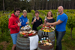 Delicious lunch at Bruny Island Premium Wines