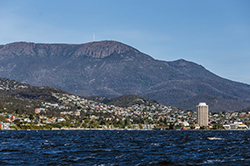 Hobart from Iron Pot Cruises
